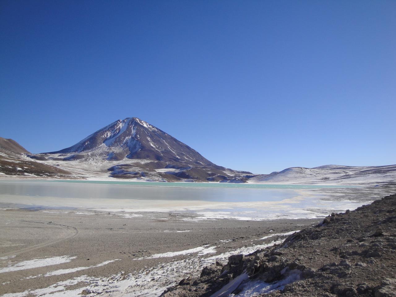 Laguna verde Licancabur Salar d'Uyuni Bolivie